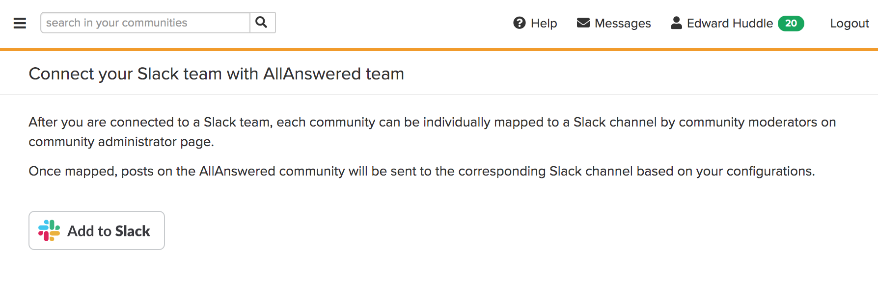 connect to slack